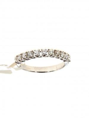 Fedina di diamanti in oro bianco 750 - fed-105