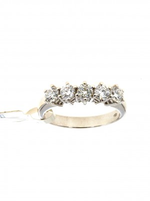 Fedina di diamanti in oro bianco - fed-298