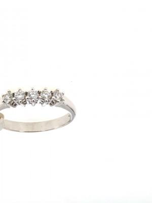 Fedina di fidanzamento in oro con cinque diamanti - fed-257