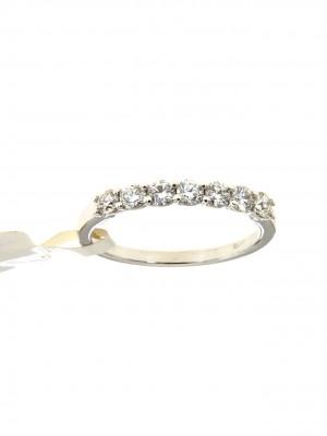nello fedina in oro bianco con sette diamanti - fed-272