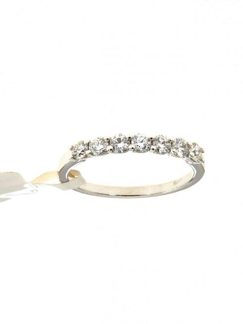 più recente 93ef7 0e551 Fedina di fidanzamento in oro bianco 750 con sette diamanti - fed-272