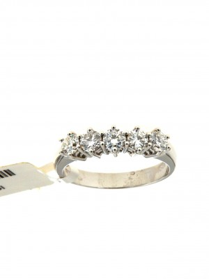 Fedina di fidanzamento con cinque brillanti - fed-432