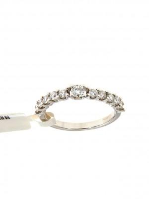 Fedina con undici brillanti in oro bianco - fed-VR1