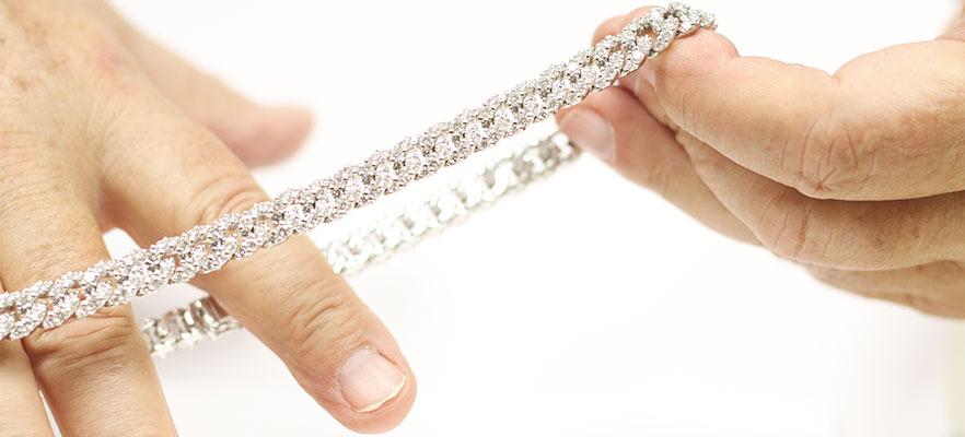 tennis catenina floris diamanti per slider